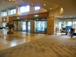Inside the hotel...