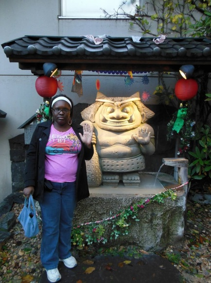 Me and one of many Oni...