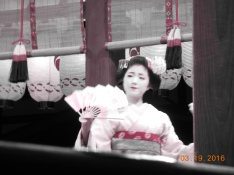 Geisha performance in Kyoto temple (rare to get this kind of performance!)